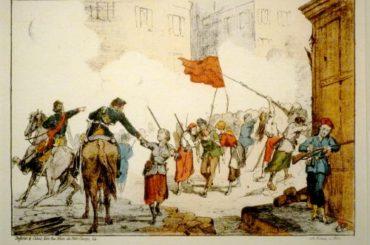 La barricade de la place Blanche tenue par des femmes - Mai 1871